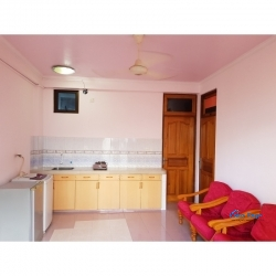 Fully ventilated & fully furnished 1 bdrm apartment & AC room with balcony